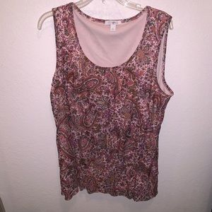 Roz and Ali patterned sleeveless blouse